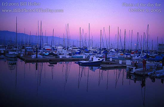 Santa Barbara Harbor at Sunset