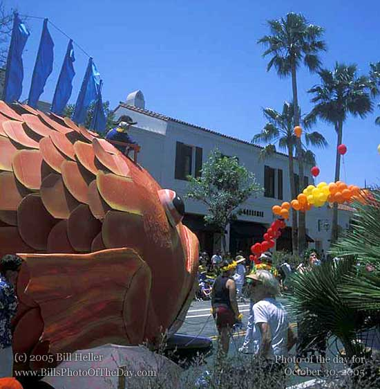 Fish Float in the Summer Solstice Parade, Santa Barbara, CA