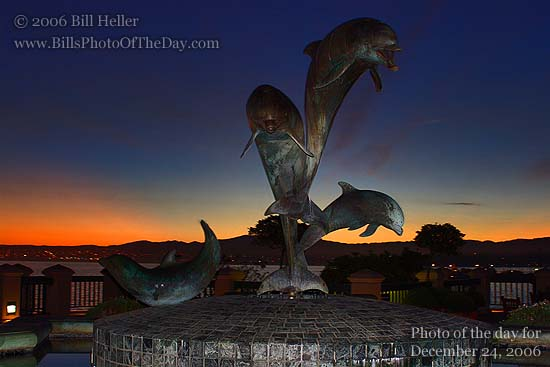 Dolphin Fountain on Cannery Row in Monterey, California