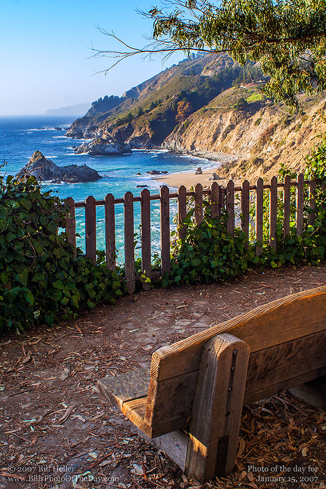 Quiet spot bench at julia pfeiffer burns state park for Big sur national park cabins