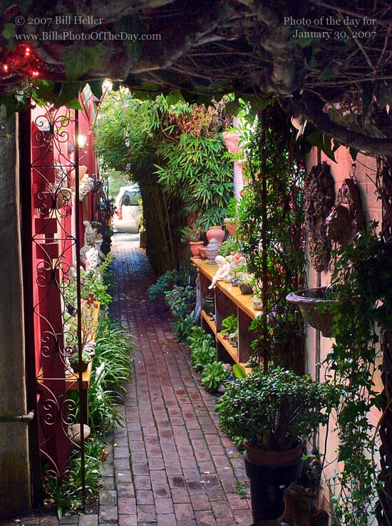 Path to a garden store in Carmel by the Sea