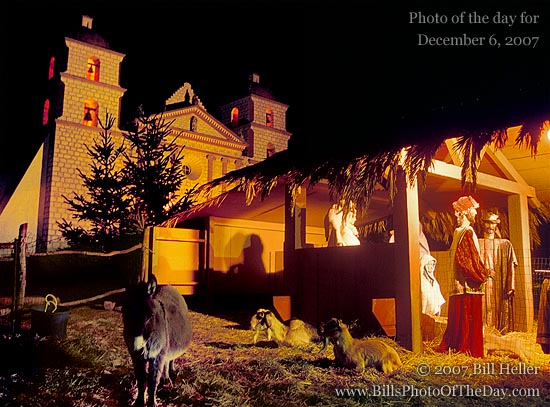 Live Nativity at the Santa Barbara Mission
