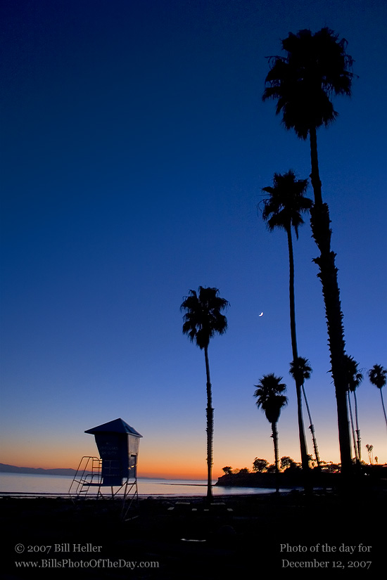 Sunset at Leadbetter Beach in Santa Barbara