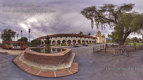 "Mission Santa Barbara ""Queen of the Missions"" 360°"