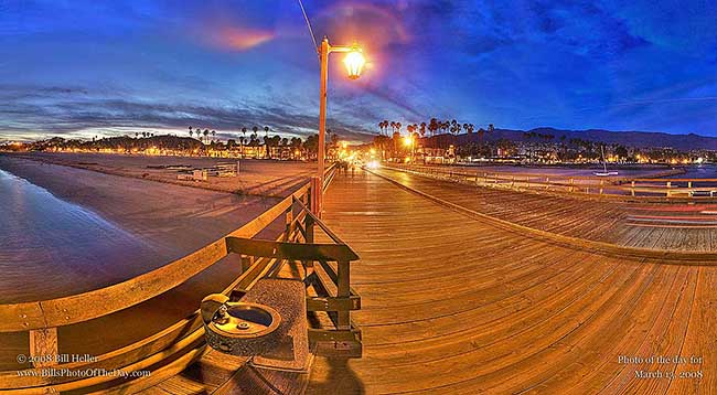 Stearns Wharf at Sunset 360°