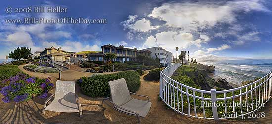360° view from the Cottage Inn, Pismo Beach, CA