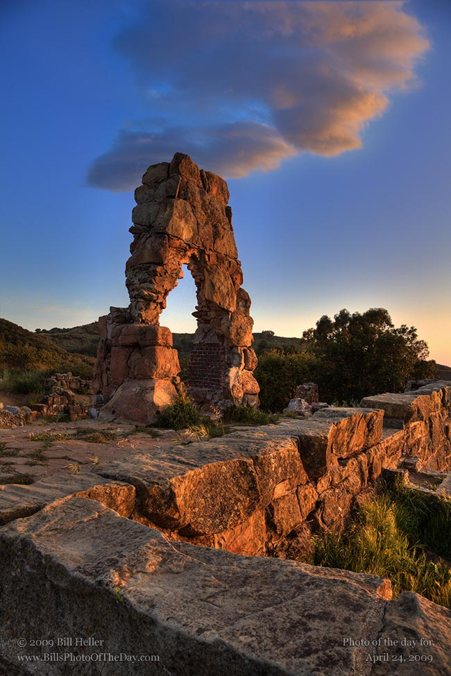 Stone Arch at Knapp's Castle in the mountains above Santa Ynez