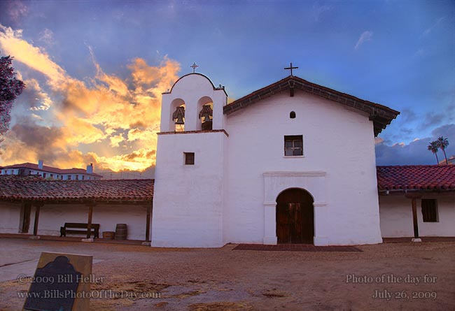 Sunset Over El Presidio de Santa Barbara | El Presidio de Santa ...