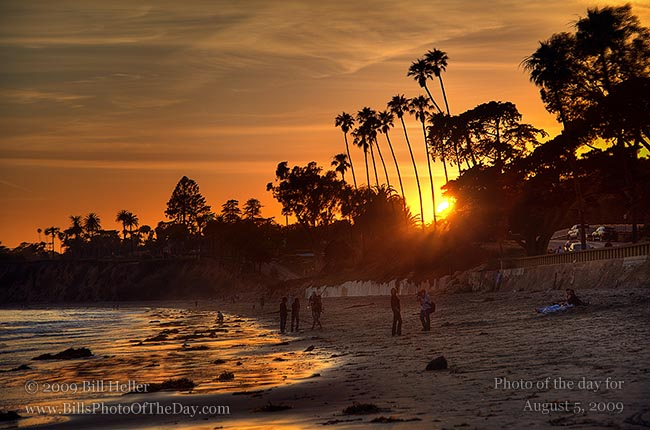 Butterfly Beach Golden Hour  Sunset At Butterfly Beach, Montecito, California  Bill Hellers -4746