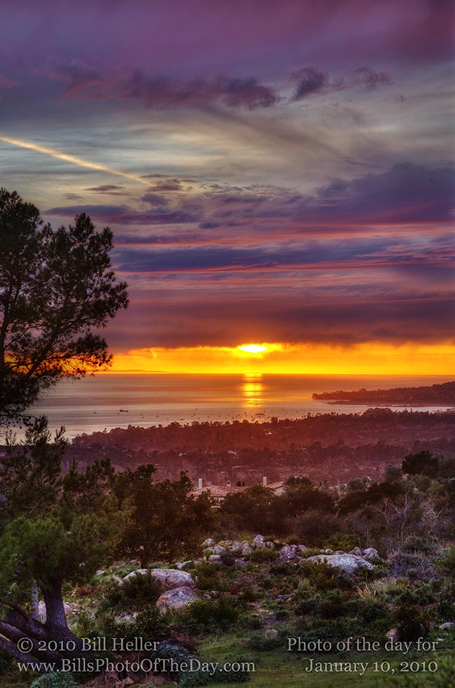 soe 121_Montecito Sunset | Sunset over the Pacific from the Montecito Hills | Bill Hellers ...