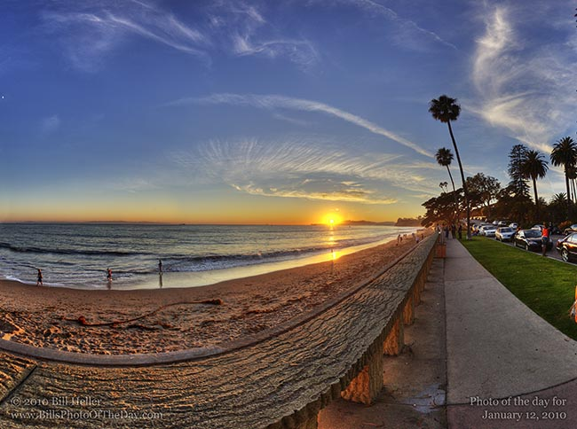 Beach Sunset Landscape. Wall Sunset Landscape