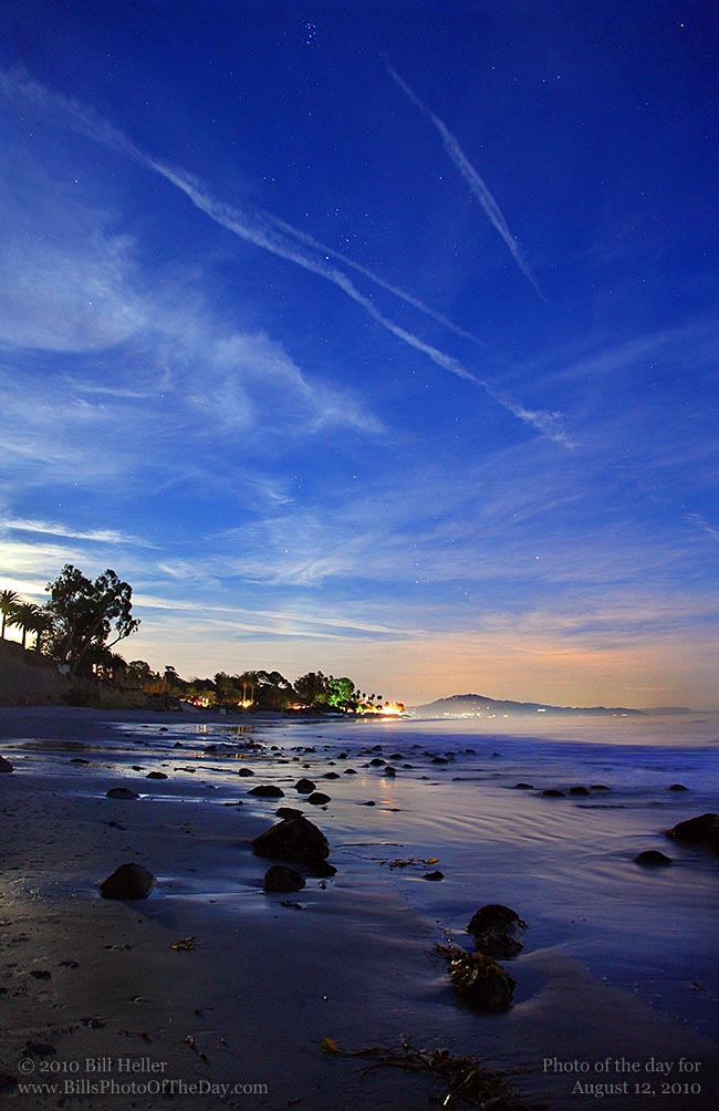Butterfly Beach just after sunset, Montecito, California