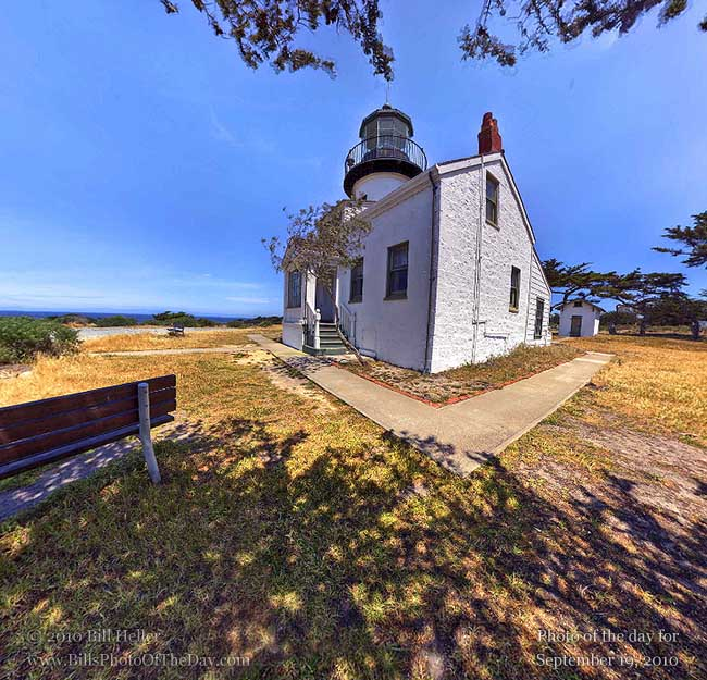360° view of The Point Pinos Lighthouse, Pacific Grove, CA