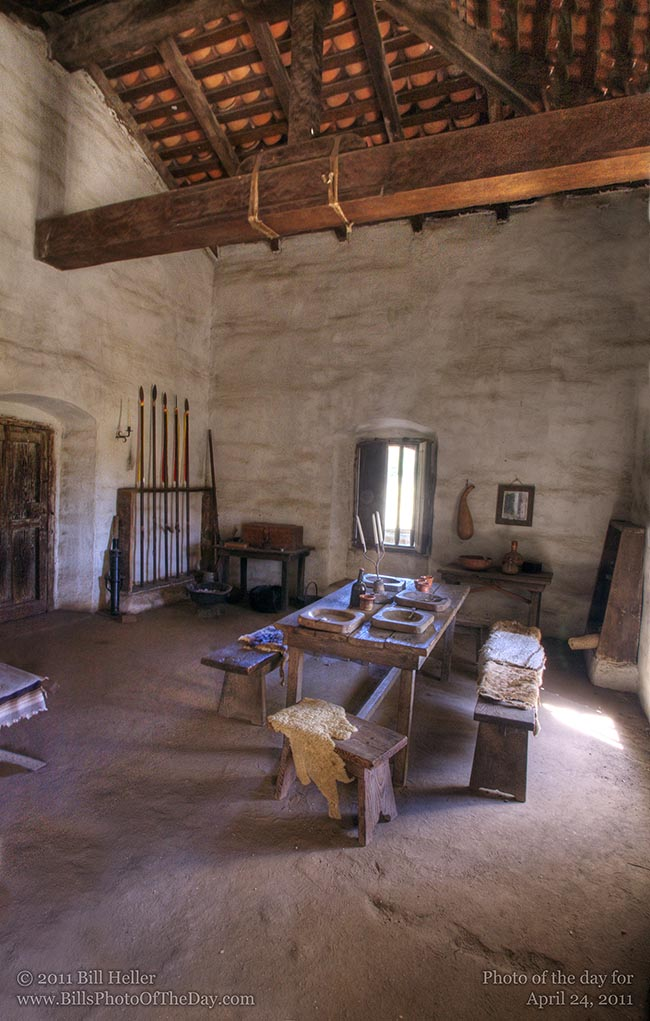 Dining room at the La Purisima Mission