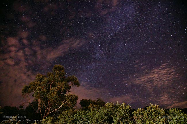 Milky Way from the mountains above Santa Barbara