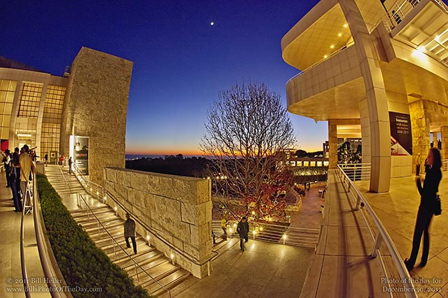 Evening At The Getty Sunset At The Getty Center In Los