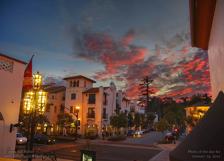 Happy Holidays From Santa Barbara Winter Sunset Over A