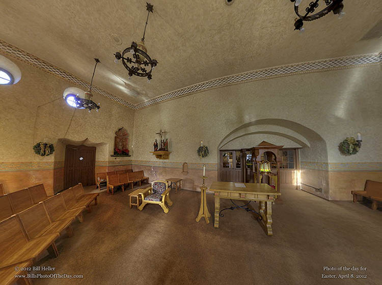 Santa Barbara Mission Chapel in 360 degree VR
