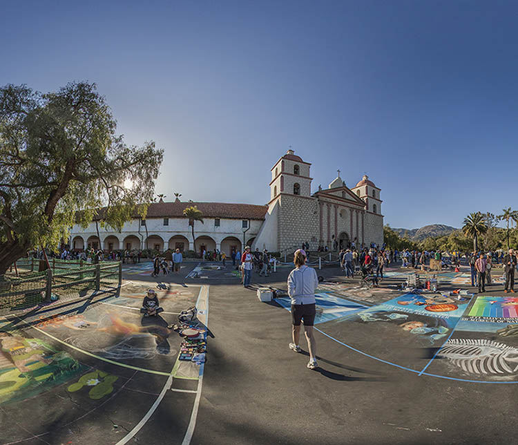 I Modnnari Street Painting Festival at the Santa Barbara Mission