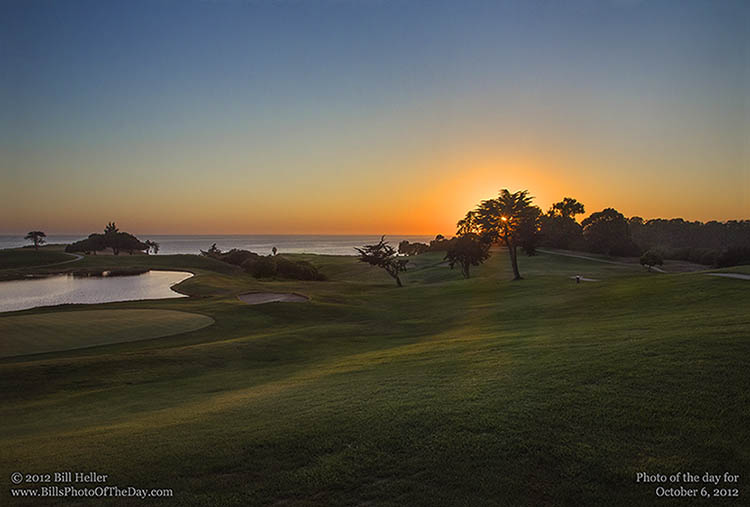 Autumn Sunset at Sandpiper Golf Course, Goleta, California