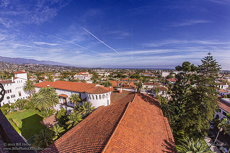View from the Santa Barbara County Courthouse Clocktower
