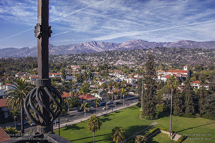 View of Santa Barbara from the Courthouse Clocktower
