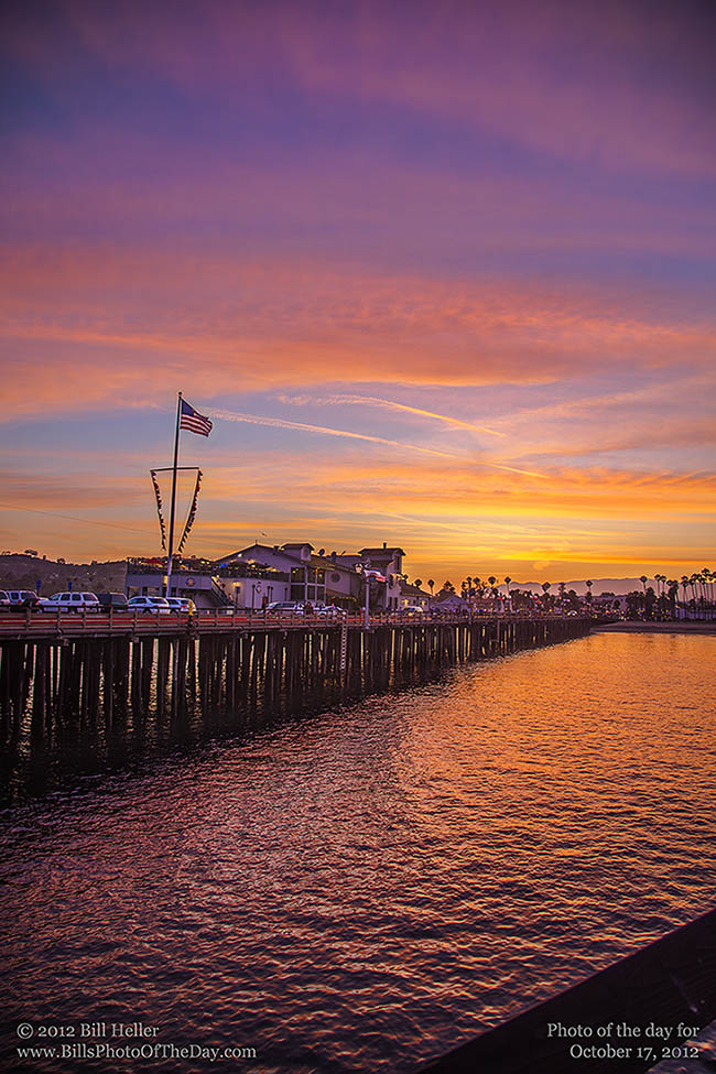Sunset from Stearns Wharf in Santa Barbara, California