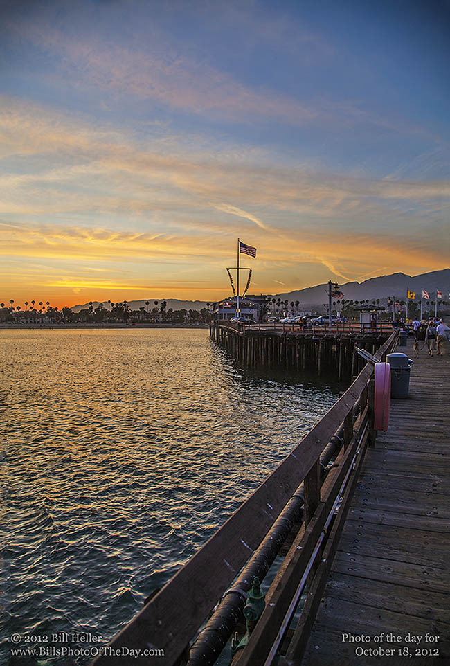 Stearns Wharf Sunset, Santa Barbara, California