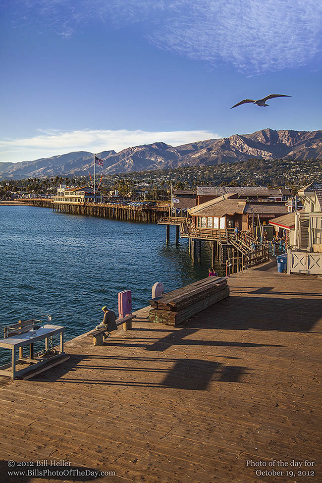 Santa Barbara from Stearns Wharf