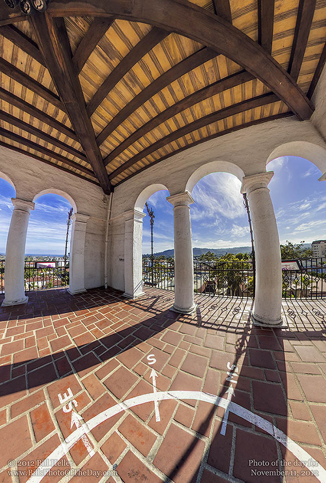 View from the Center of the Santa Barbara County Courthouse Clocktower