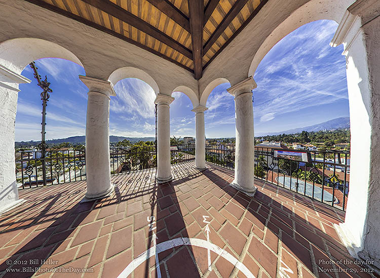 Veiw from the Compass at the Santa Barbara County Courthouse Clocktower
