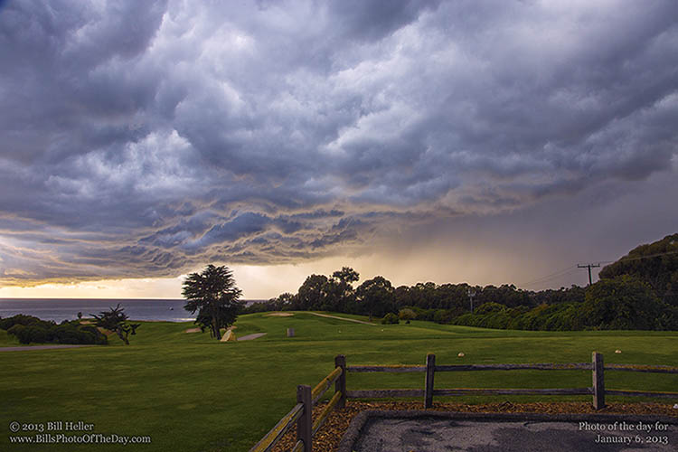 Storm Rolling in at Sandpiper Golf Course in Goleta, California