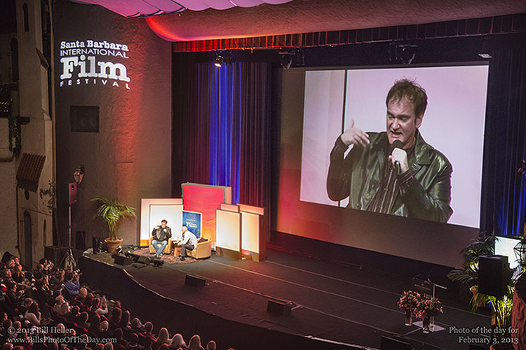 Quentin Tarantino interviewed at The Arlington Theatre during the Santa Barbara International Film Festival