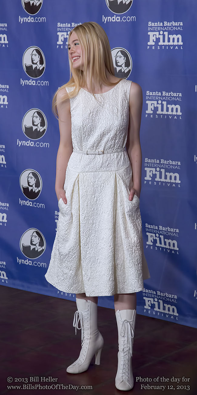 Elle Fanning at the Santa Barbara International Film Festival