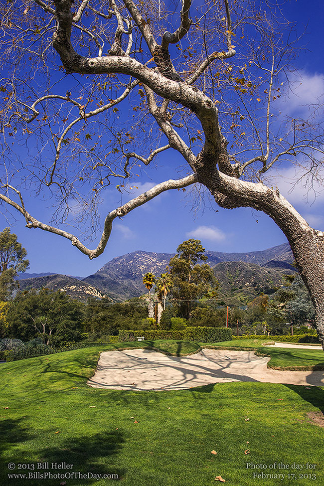 Mountain view from a golf course in Montecito