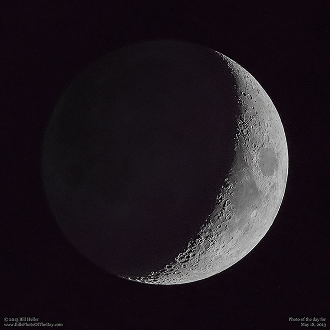 The Moon - Waxing Crescent