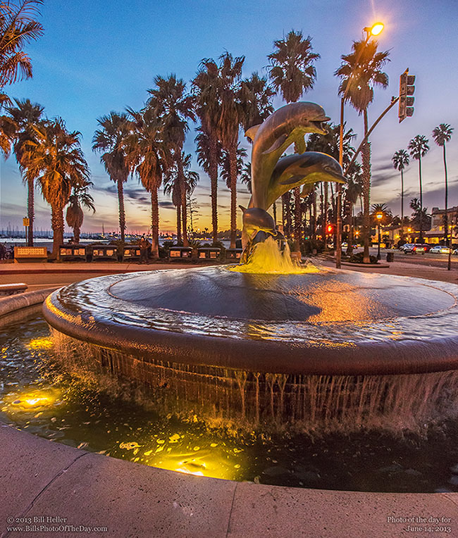 The Dolphin Family Fountain, Stearns Wharf, Santa Barbara, California