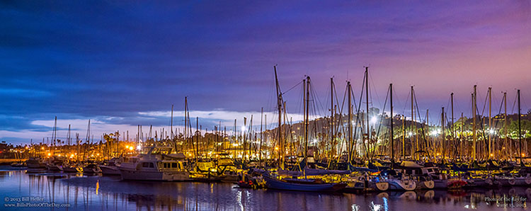 Santa Barbara Harbor at Twilight