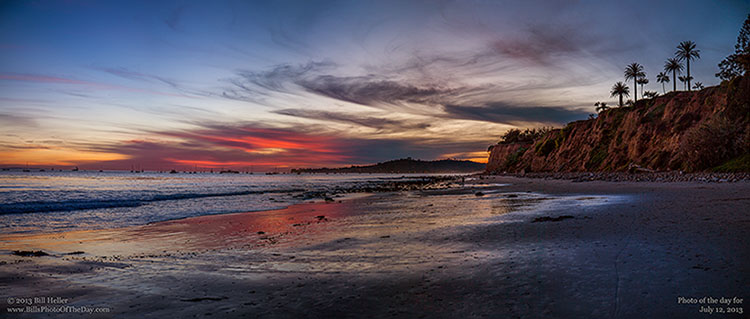 Bluff at Butterfly Beach in Montecito California