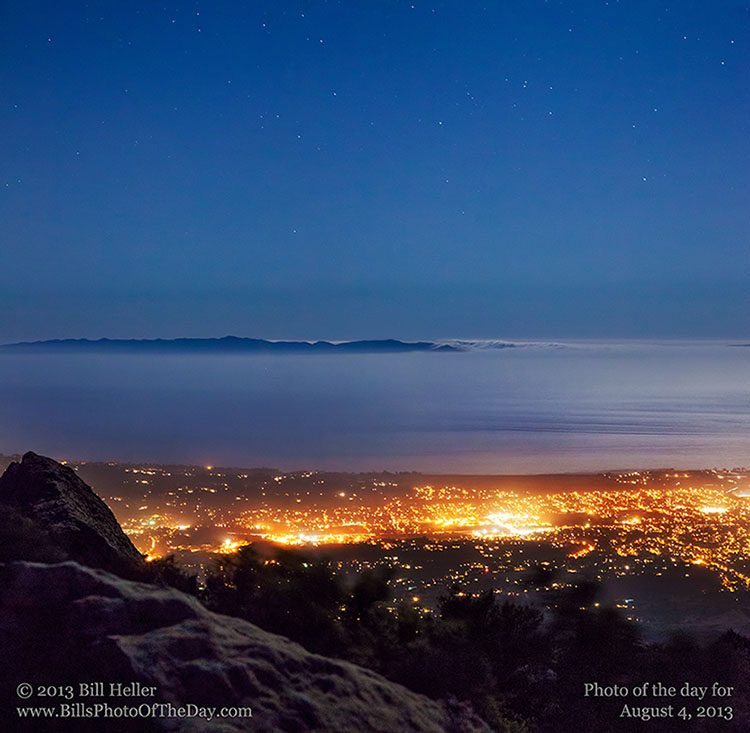 Fog rolling in over the Channel Islands, Goleta, California