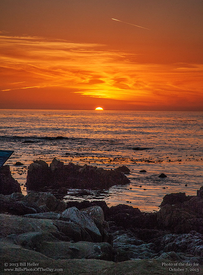Sunset at Asilomar Beach in Pacific Grove, California