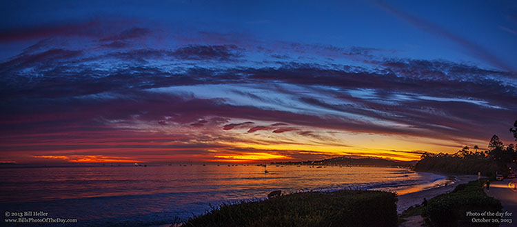 Suset over Butterfly Beach in Montecito, California