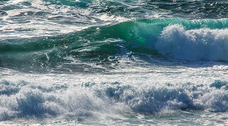 Breaking wave at Asilomar Beach in Monterey California