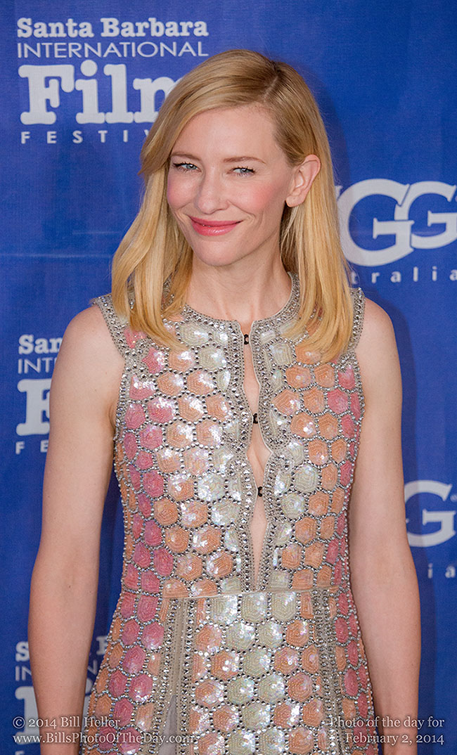 Cate Blanchett Smiling on the Red Carpet