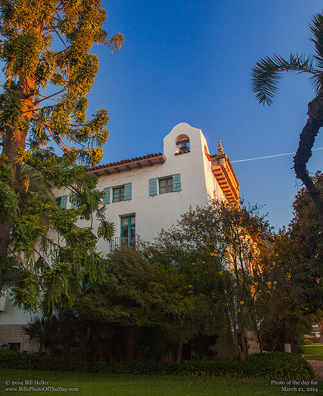 Santa Barbara County Courthouse in the Morning Light