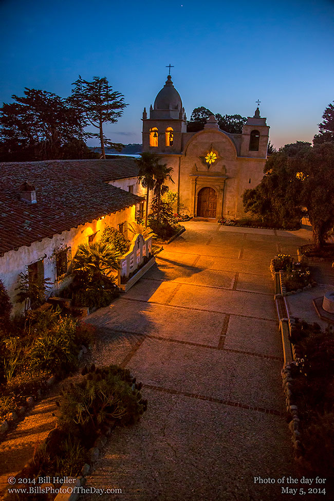 Carmel Mission [Mission San Carlos Borroméo del río Carmelo] in Carmel by the Sea, California