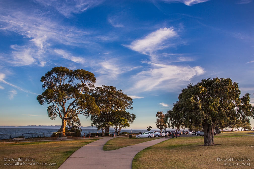 Cirrus clouds over Shoreline Park