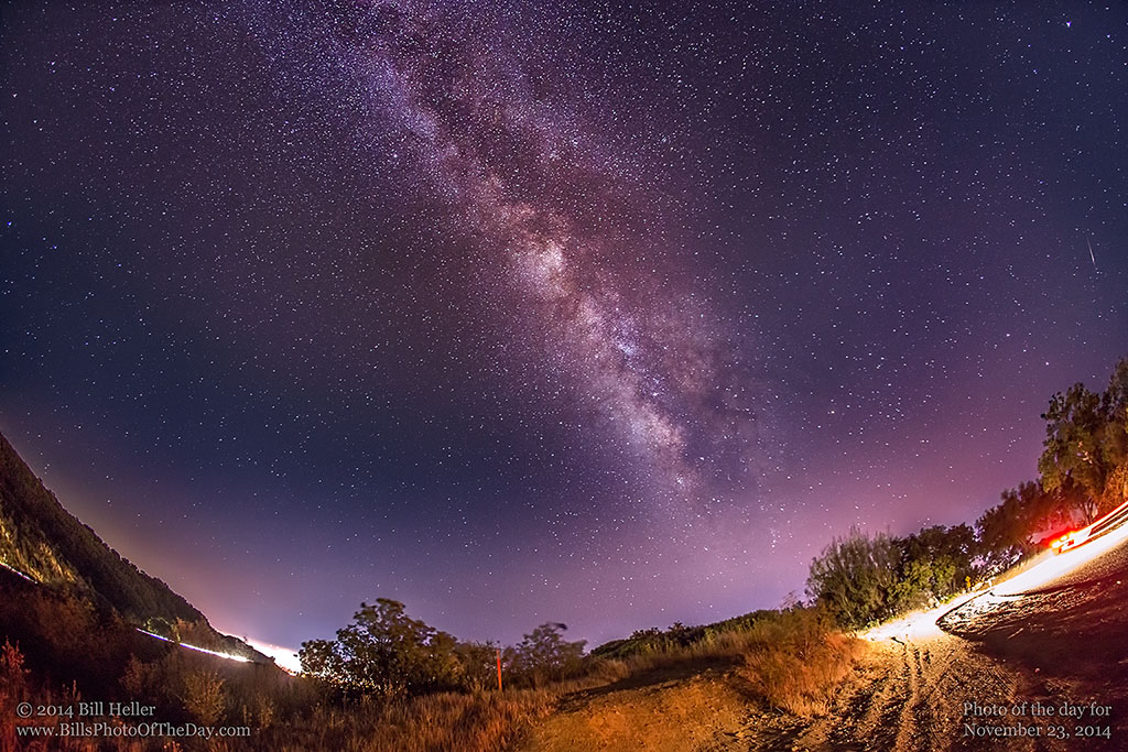 Milky Way over the hills above Santa Barbara