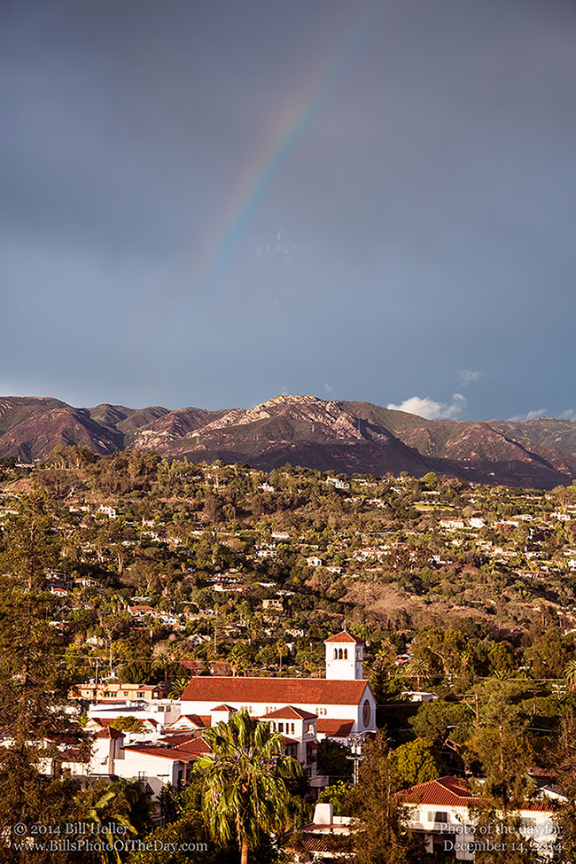 Rainbow over the Santa Barbara Mountains
