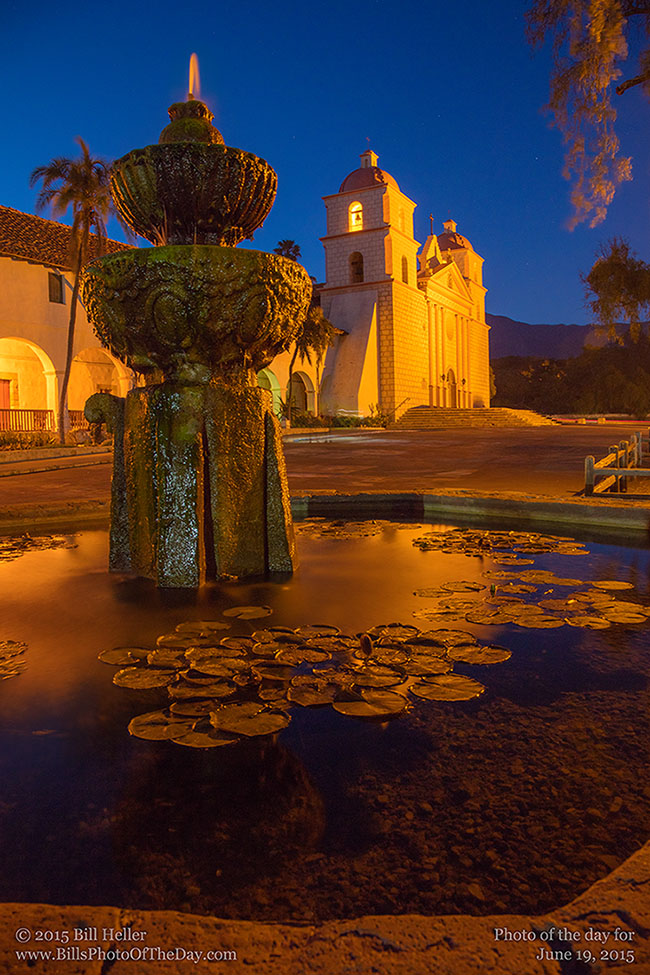 Evening Walk at the Mission